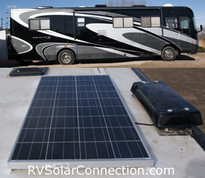 Diesel Pusher with Kyocera 130 watt solar panel