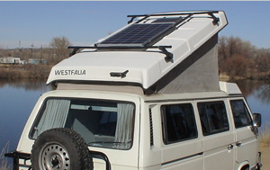 85 Watt Portable on VW Westfalia