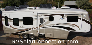 Mobile Suites 5th wheel with 390 watts of solar power