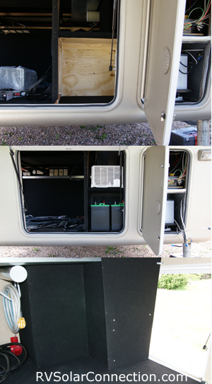 Mobile Suites Inverter and Battery Compartment