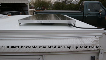130 Watt Portable Mounted on Pop Up Tent Trailer